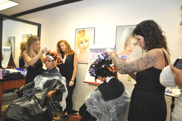 Stylists Gather At Visions Hair Salon