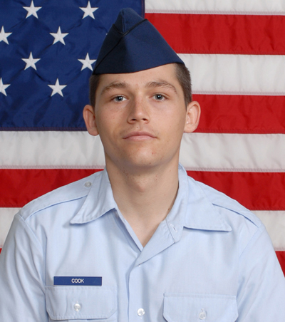 Air Force Airman Robert Cook recently graduated from basic military ...