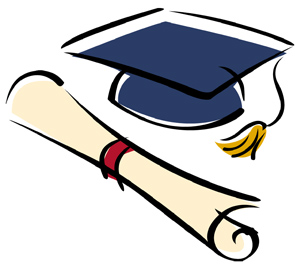 Image result for senior cap and gown free clip art