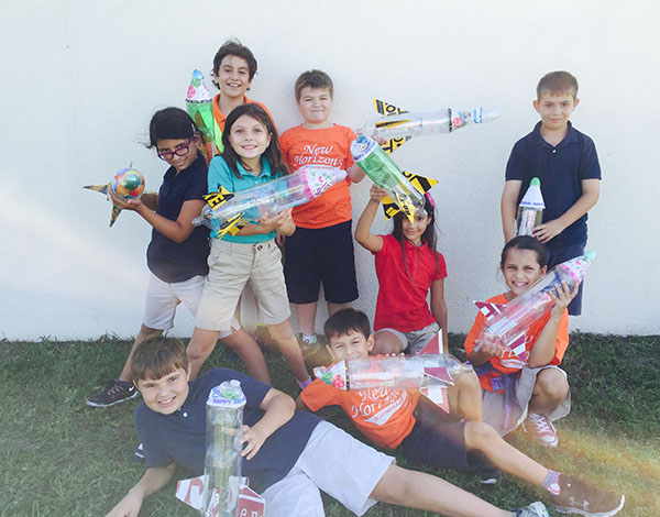 Future Rocket Scientists Launch Bottle Rockets