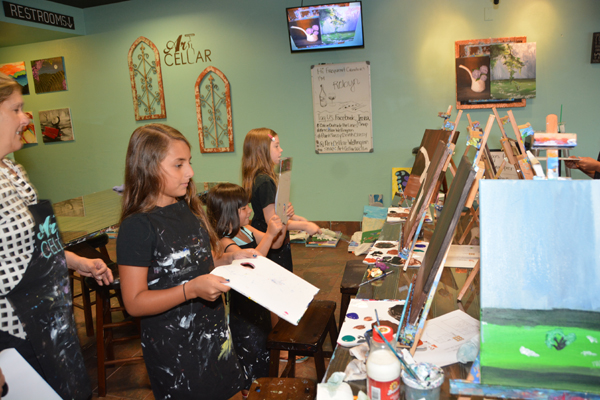 Campers Paint At Wellington's Art Cellar