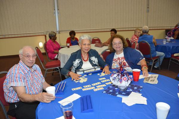 RPB Seniors Enjoy A Patriotic Lunch