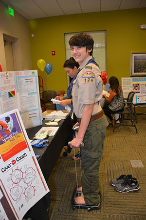 Area Scout Troops Host Health Fair