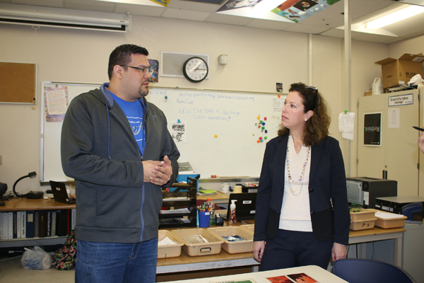 Jacobs Family Foundation Visits WHS