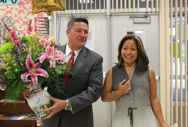 Dr. Aguirre Honored As School District's Teacher Of The Year